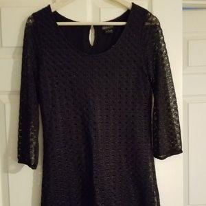 NWOT LUCKY BRAND Size S Black Lace Shift Dress